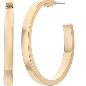Anthropologie thick gold squared edge hoops!